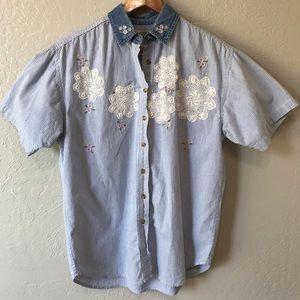 Vintage Cottagecore Granny Button Down Shirt